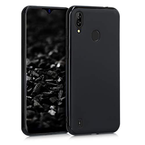 kwmobile Hülle kompatibel mit Blackview A60 Pro (4G) - Hülle Silikon - Soft Handyhülle - Handy Hülle in Schwarz matt