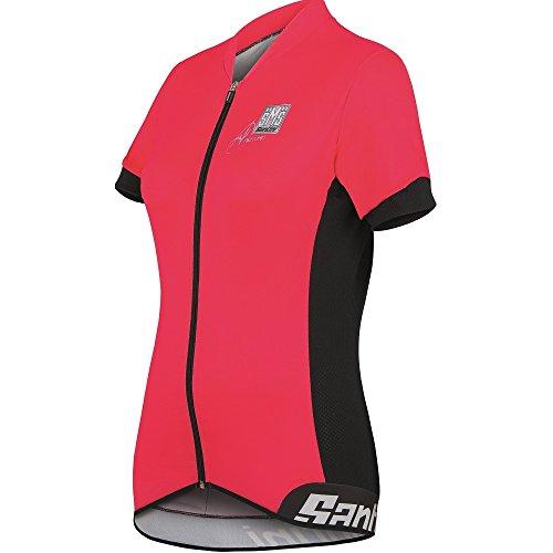 Santini Fashion Aero - Maillot de Ciclismo para Hombre, Color Rosa Coral,...