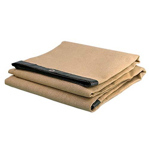 Filet D'ombre En Tissu Léger D'ombre De Tissu D'ombrage Filet D'UV Résistant Aux Rayons Solaires Pour Le Patio De Jardin, Jaune Terreux (taille : 2x2m)