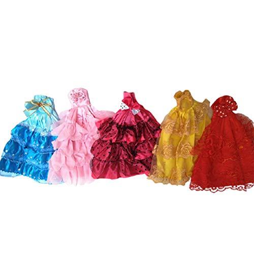 Vestidos para muñecas que incluyen 2 vestidos de novia, 10 vestidos de moda, vestidos de novia para niñas, niños, fiestas de cumpleaños