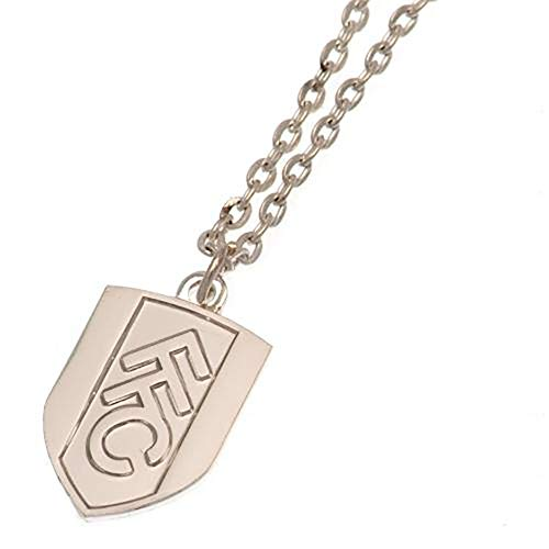Official Licensed Fulham F.C - Silver Plated Pendant & Chain