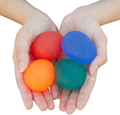 RMS 4 Pack Hand Exercise Balls Physical Occupational Therapy Kit for Strengthening Grip Reducing product image