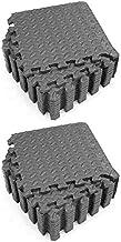 Soaying 24Pcs Mats and Home Gym Floor Foam Floor Mats Exercise Mat Floor Matt for Floors Foam Flooring Tiles Black