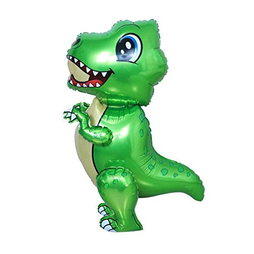 Lowest Price! Xucus Large 4D Walking Dinosaur Foil Balloons Birthday Party Decorations Kids Babyshow...