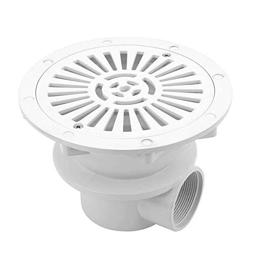 Zidao Pool Main Drainage White Pool Main Drain Floor Drain 1.5 Inch Water Inlet Drain Accessories Premium Material Maximum Durability,Weiß