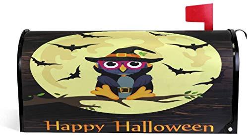 Bho de Halloween con disfraz de bruja Magntico 21x18 en Cubierta de buzn de gran tamao para decoraciones de jardn y exteriores-Multi