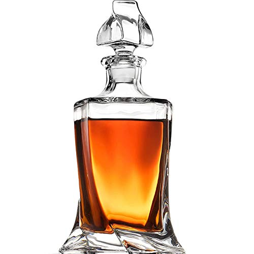 Vidrio Decantador De Whisky De Cristal De Lujo Licor De Whisky Sin Plomo Para Alcohol Bourbon Scotch 27.05 Oz