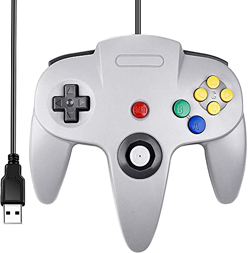 Controle Para Nintendo 64 Manete N64 Joystick Cinza