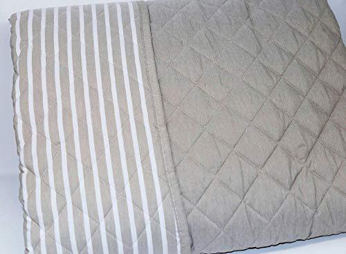 Gesteppte Tagesdecke für Doppelbett in der Übergangszeit gefärbt aus Garn & Double-Face 100 g/m² hypoallergen GF Ferrari Art. Traum 260 x 260 cm (taupe)