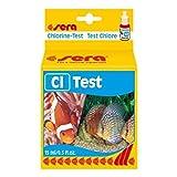SERA 04810 cl-test 15 ml - Cloro Test para aprox. 45 MEDICIONES, mide Confiable y genau den CLORO, para Dulce & Agua de Mar, en Acuario o estanque