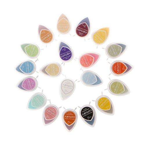 MYA - Sello de Tinta Multicolor, Sello de Tinta Rainbow, Sello de Tinta para Manualidades