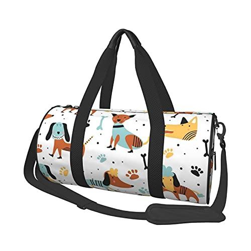 MBNGDDS Bolsa de viaje infantil para perros, ligera, plegable, impermeable, con correa para el hombro, bolsa de deporte para hombres y mujeres, ver imagen, Talla única,