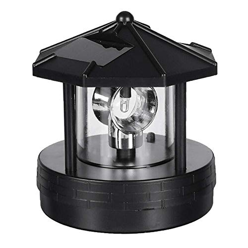 Tookie 1/2PCS Solar Lighthouse, Rotating Outdoor Waterproof LED Solar Light Beacons Tower Decorative, 360 Degree Rotating Lamp Beacons for Lawn/Patio/Pond