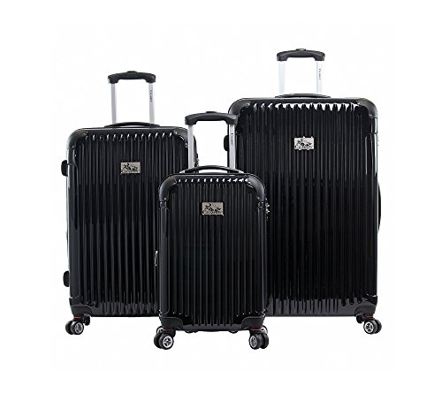 Review Chariot Paola 3-piece Hardside Expandable Lightweight Spinner-Black, One Size
