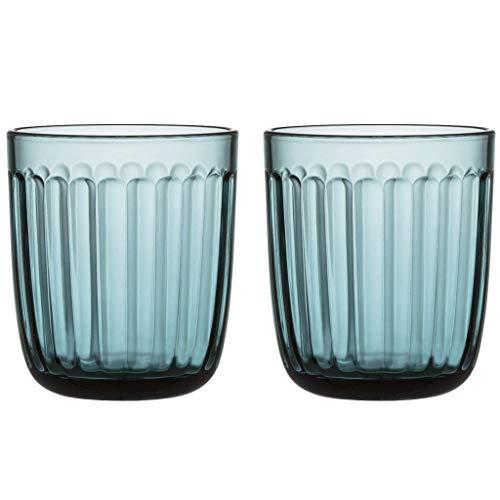 Iittala 1026950 Raami Wassergläser, Seeblau/Transparent