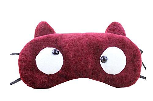 Masque Creative Cartoon Eye Masque drôle souple visière yeux rouge