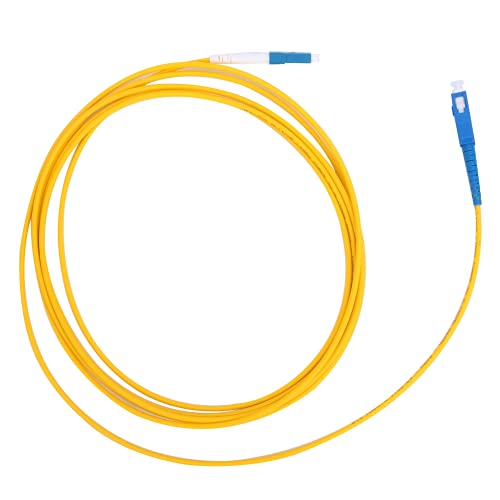 Cable De Conexión De Fibra óptica, 2 Piezas Amarillo 3 Metros LC/UPC A SC/UPC Cable De Conexión De Fibra Para De Comunicación De Fibra óptica