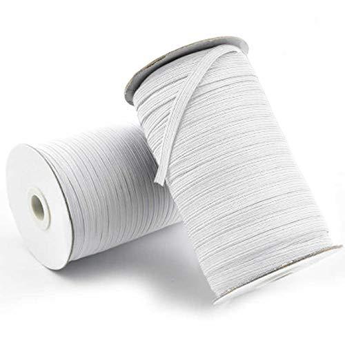 vyvy mobile 10 Meter Premium Gummiband 4mm breit - für Maskenherstellung Kochfest bis 95 Grad in weiß Gummilitze Hosengummi Elastikkordel nähen Gummi Meterware Gr&preis 0,37€ / M