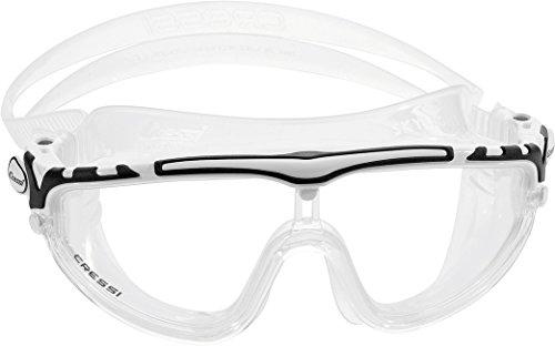 Cressi Skylight Swim Goggles, Occhialini Premium per Nuoto, Piscina, Triathlon e Sport Acquatici Unisex Adulto, Trasparente/Bianco/Nero