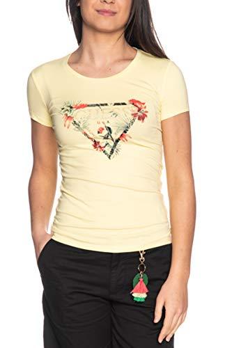 Guess T Shirt a Manica Corta Donna Giallo Limone