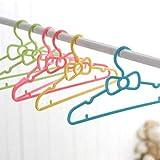 TYUXINSD Suministros de Ropa 10 unids Set de la colgadora de Lazo de los niños Hogar de la Ropa para el bebé Color Aleatorio