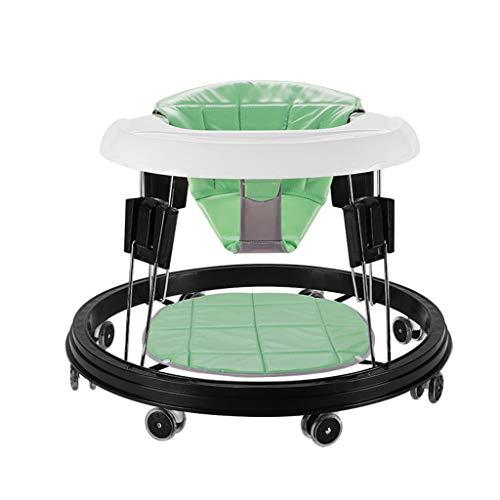 ShenZuYangShop Kinder-Rollator Multi-Funktions-Kinder Rollover Prävention Jungen und Mädchen können schieben Kann Falten höhenverstellbare Rollator (Color : Green)