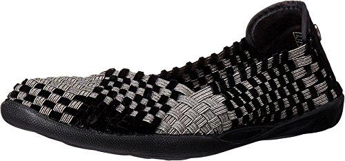 Bernie Mev Women's Braided Catwalk Gunmetal/black Velvet Flats - 8.5 B(M) US