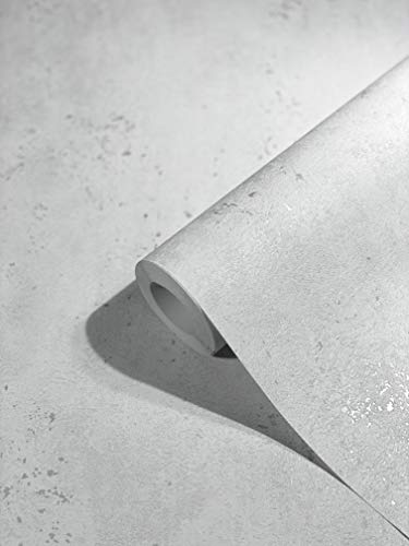 marburg Tapete Grau Silber Betonoptik für Schlafzimmer oder Wohnzimmer Vliestapete 100% Made in Germany PREMIUM QUALITÄT 10,05 x 0,53m 32612