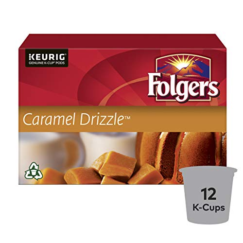 Folgers Caramel Drizzle K-Cup Coffee Pods 12 Count