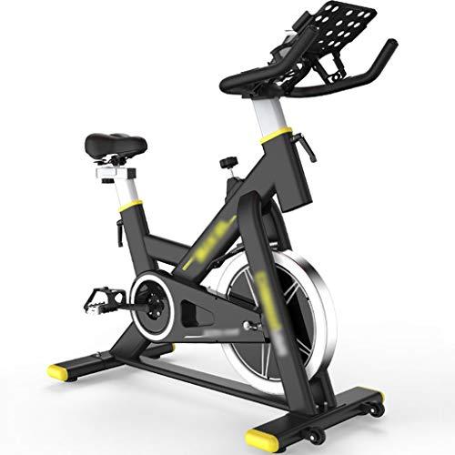 Bici de Spinning Bicicleta estática magnética silenciosa,Ejercicio en casa para bicicletas de spinning,Equipo de fitness ajustable,Puede soportar 200 kg ( Color : Black , Size : 107*52.5*101.5-120cm )