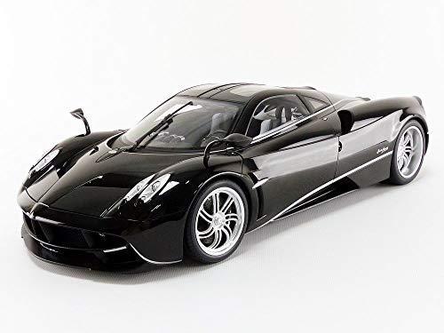 Pagani Huayra Black w/Silver Stripes & Silver Wheels 1/12 Model Car by Autoart 12233