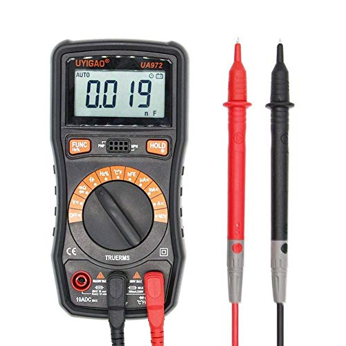 JF-XUAN Digitale UA972 Mini-LCD-Digital-Multimeter DC/AC-Spannung Strom Widerstand Kapazität Frequenz Temperaturmessung präzise Elektrische Werkzeuge Multimeter