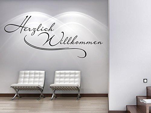 Klebeheld® Wandtattoo Herzlich Willkommen No.5