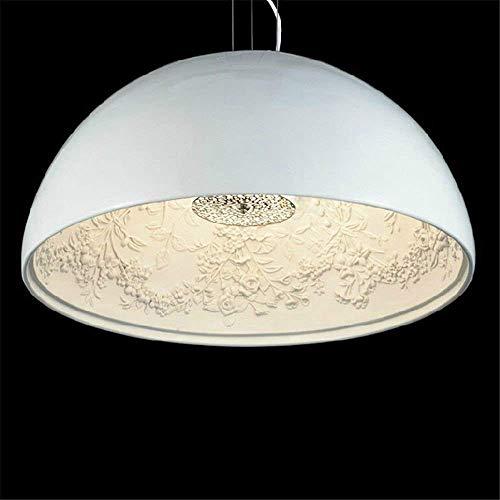 Hanger Licht Kroonluchter lamp Moderne Lamp LED Vorm Dome Hars Verf Eetkamer Verlichting Verlaagde Lounge Huis Lounge Dining/Dia 60 cm (Kleur: Zwart)