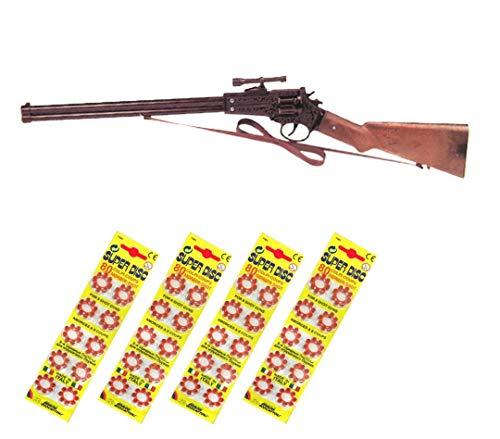 Outletdelocio.. Escopeta Joe Apache Juguete con 320 fulminantes en Aros de 8 tiros. 338/4-62517