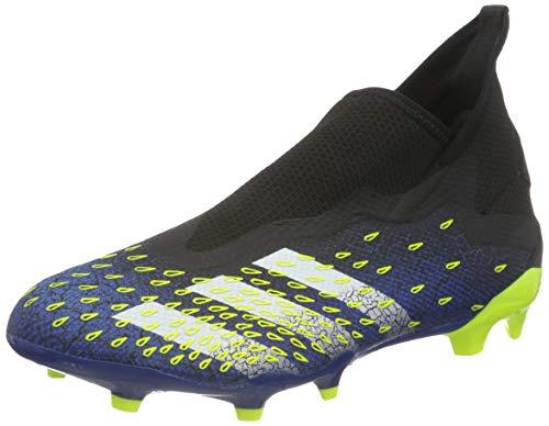 adidas Herren Predator Freak .3 LL FG Soccer Shoe, Core Black/Cloud White/Solar Yellow, 42 2/3 EU