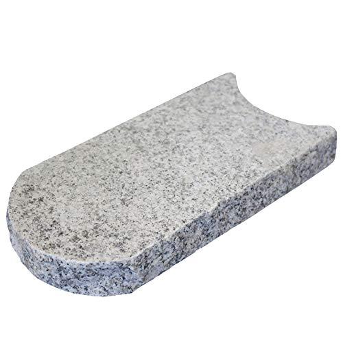 Intergarden Rasenkante - Mähkante - aus Granit - hochwertiges Produkt aus Naturstein (Set bestehend aus 10 Stück)