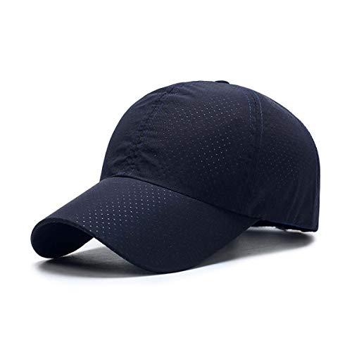ZEARE schnell trocknend wasserdicht atmungsaktiv Hut Polyester Baumwolle Sonnenhut leichte Baseballmütze Sport Cap Unisex (Dunkelblau)