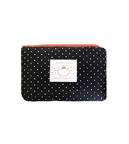 SMATI Poncho/Cape de Pluie avec Capuche Mode Femme Tissu de qualité imperméable activité en Plein air vélo Moto randonnée (Orange)