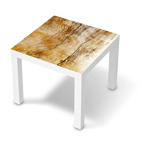creatisto Möbelfolie passend für IKEA Lack Tisch 55x55 cm I Möbeldeko - Möbel-Folie Tattoo Sticker I Wohn Deko Ideen für Wohnzimmer, Schlafzimmer - Design: Unterholz