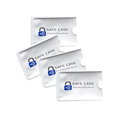 Diawell RFID NFC Kartenschutzhüllen Schutzhülle Blocker Datenschutz Abschirmung Hülle Sleeve EC Karte Kreditkarte Personalausweis Kreditkarte für Geldbeutel (4X)