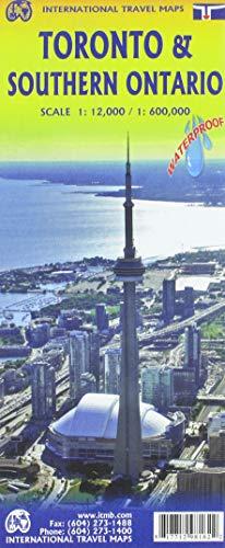 Toronto 1:12 000 / Southern Ontario 1 : 600 000: with: Toronto Beaches 1 : 15000, Toronto Region 1 : 160 000