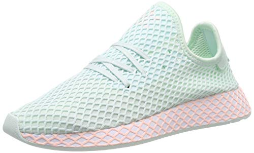 adidas Deerupt Runner J, Zapatillas de Gimnasia Unisex Adulto, Verde (Ice Mint/FTWR White/Clear Orange Ice Mint/FTWR White/Clear Orange), 38 EU ⭐