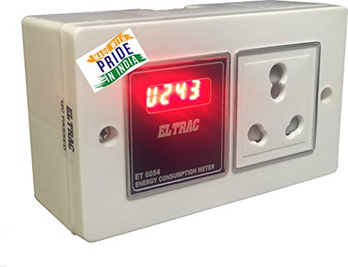 ELTRAC appliance Single phase V,A,wattage, and Electricity Energy Consumption Meter with RESET button