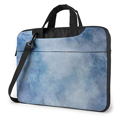 Watercolor Texture Printed Laptop Shoulder Bag,Laptop case Handbag Business Messenger Bag Briefcase