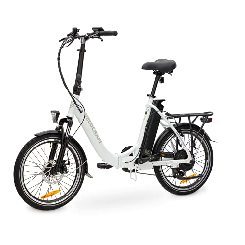 VECOCRAFT E-Pax Elektro Klapprad, 20 Zoll E Bike Klapprad, E-Folding Bike mit Detachable Battery 36V 13AH(468WH), 250W Motor, Portable Herren&Damen E Bike, Shimano 7 Gang-Schaltung Elektrofahrräder