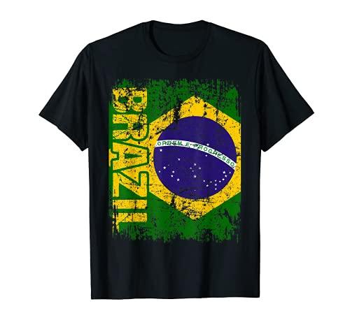 BRASIL Bandera   Hombres Mujeres Niños BRASIL Camiseta