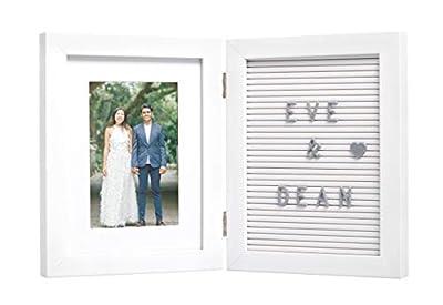 Kate & Milo Wedding Letterboard Frame, Share Engagement, Wedding Hashtag, Wedding Date, Engagement or Bridal Gift, Wedding Registry, White from AmazonUs/PEKJ9
