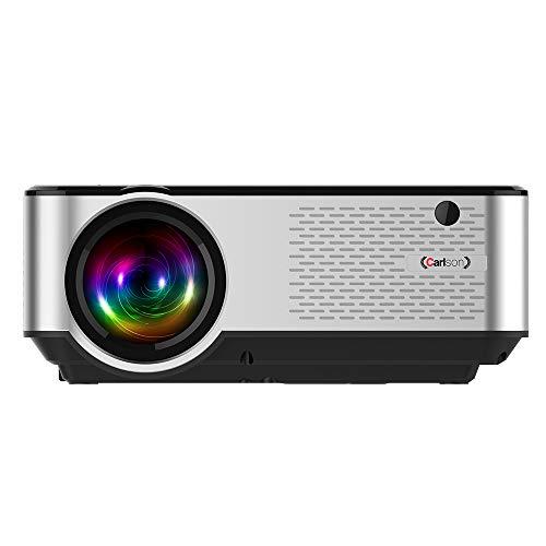 CarLSON - Mini proyector portátil Multimedia, Consola, Cine en casa 1080*720 Nativo, 1080P Soporte, LED 50000 Horas