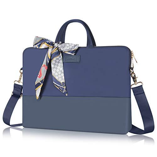 Kamlui Laptoptasche für Damen, 35,6 cm (14 Zoll), wasserdicht, für MacBook Air, Blau